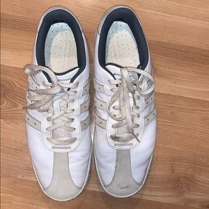 Adidas golf shoes white leather size 12